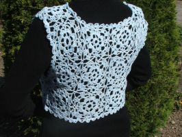 Crochet summer bolero by White-Hand
