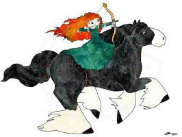 Merida And Angus by AudreyMillerArt