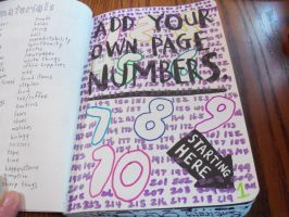 Wreck this Journal: Page Numbers by heather24242
