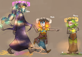 Oct 1-2-3: The Mother and her Children by stupidyou3