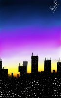 Dusk Ii the city by LucasPacifico