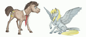 Derpy and Doctor Whooves by Earthsong9405