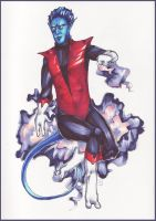 Nightcrawler coloured version by Albinea