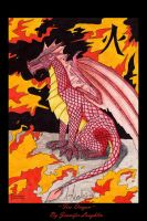 Fire Dragon -Print Available- by FalluVaud