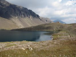 Mountain 289 - lake on the top by Momotte2stocks