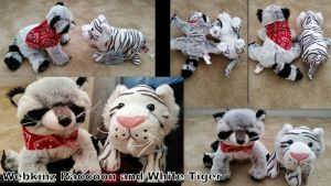 Webkinz Raccoon and White Tiger! by Vesperwolfy87