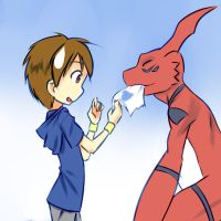 Guilmon Gift by drantyno