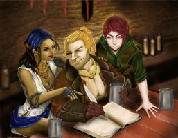 Kirkwall Rogue trio by ekocentric