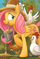 Chicks Dig Fluttershy by sophiecabra