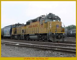 UP GP38-2 595 by classictrains