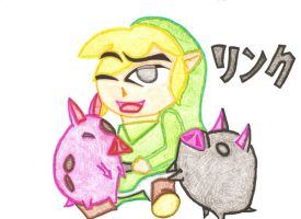 LINK AND THE PIGS by vmgp2
