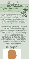 GIMP: Male Portrait Tutorial by Xadrea