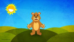 the bear and the smiling sun by hotamr
