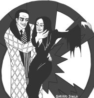 Gomez and Morticia by SakariSingh