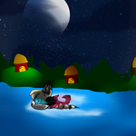 Moonlight Swim to home(brithday gifts) by Sush1Doodle