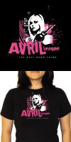 Avril Lavigne Tshirt- design6 by shampooswan