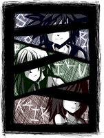 .:Colorless Smiles by midori-kitty