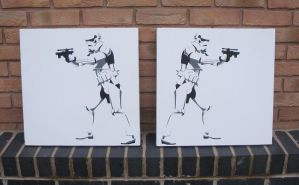 Stormtroopers - Stencil on Canvas by RAMART79