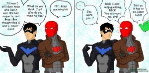 Dick and Jason talking about Red X by Shega9146