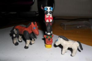 The totem and horses... by Tyranyus