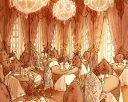 Deathly Lush Baroque Tearoom by Mensaman