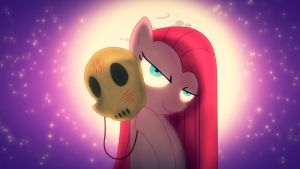 Pinkamena and mask by Alkaa-Wolf
