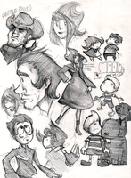 Weird Mother 3 Sketches by matilda-caboose