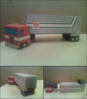 Optimus Prime G1 Truck Mode Cubee Finished by rubenimus21
