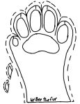 (free to use) fursuit paw pattern by beenut1000