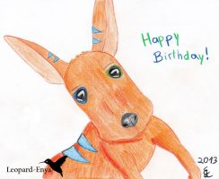Happy Birthday - Jengo by Leopard-Enya