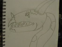Zombie Dragon Sketchbook Drawings 1 by Doom-Wulf