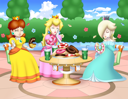 Peach Daisy and Rosalina by Sofie-Spangenberg
