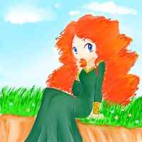 Merida sketch by Kuryel