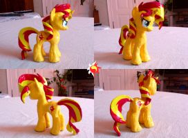 Sunset Shimmer Pony Sculpture by Neutron-Quasar