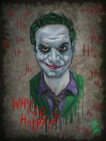 Reddit gets Drawn, happyman7268 as the Joker by trickydeuce
