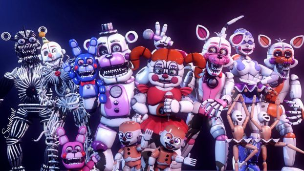 [SFM Sister Location] All characters Picture 2 by kooawsdf725