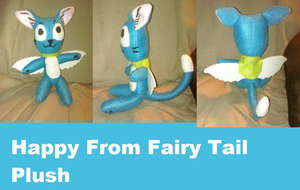 Happy from fairy tail custom plush by AshleyFluttershy