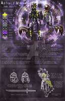 Artemis Marama Character Sheet: September 2012 by MoonstalkerWerewolf
