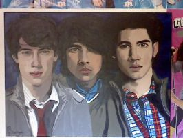 Jonas brother's painting by roydraven777
