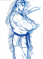 street fighter ryu sketch by cvsnb
