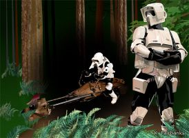 Biker Scouts on Endor by eyeqandy