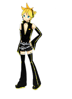 Art Trade: Project Diva 2 Len by YorixChan