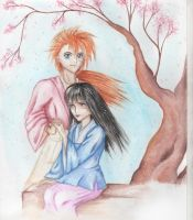 Kenshin and Megumi by McCreation