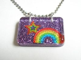 Rainbow with Purple Glitter by evrythngsblue