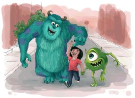 Monsters + Mollie by AriellaMay