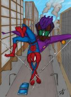 Green Goblin chase... by drakeybaby