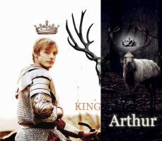 King Arthur the White Stag by K9Darkice