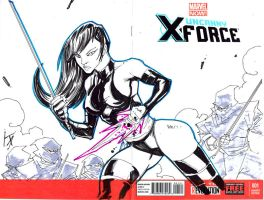 Psylocke Sketch Cover by KomicKarl