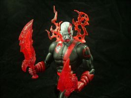 Red Lantern Kratos by JohnnyXII