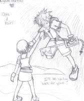 Kingdom Hearts Sora and Kairi by pandapunk143
